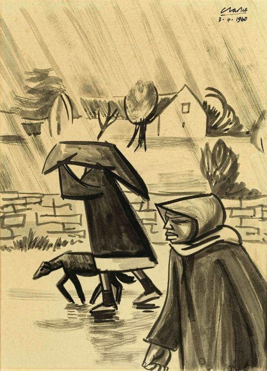 Peter Clarke; Figures in the Rain