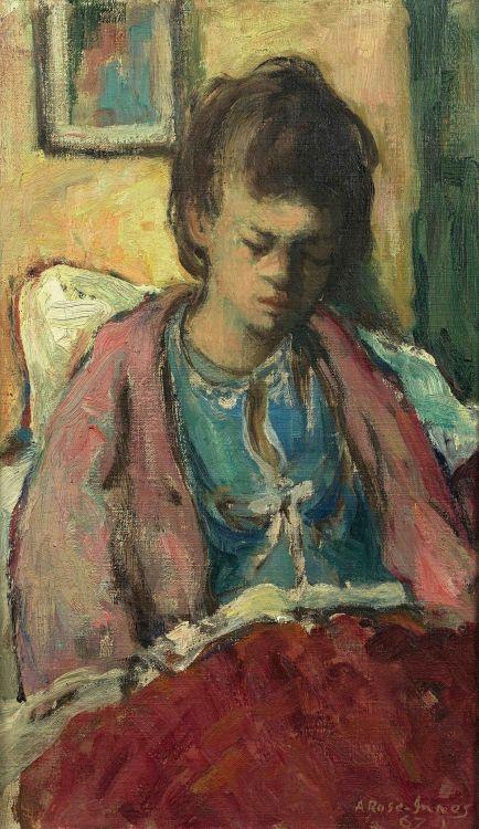 Alexander Rose-Innes; Reading In Bed