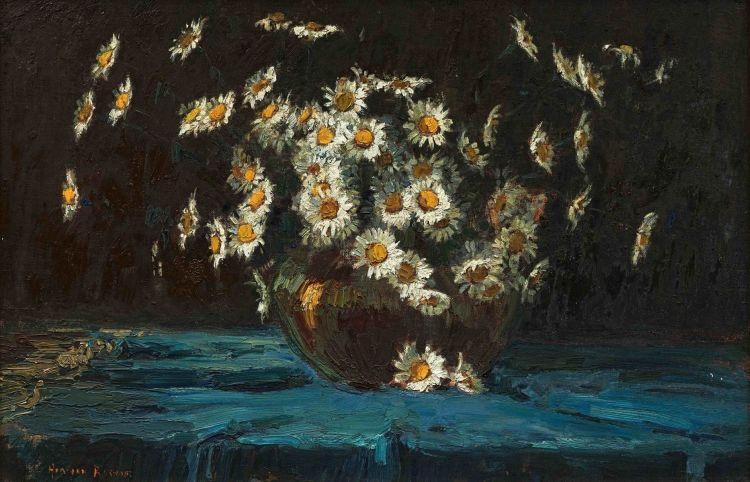 Adriaan Boshoff; A Vase of Daisies