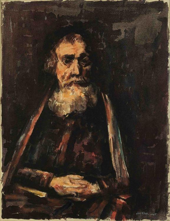 Wolf Kibel; Old Man (After Rembrandt)