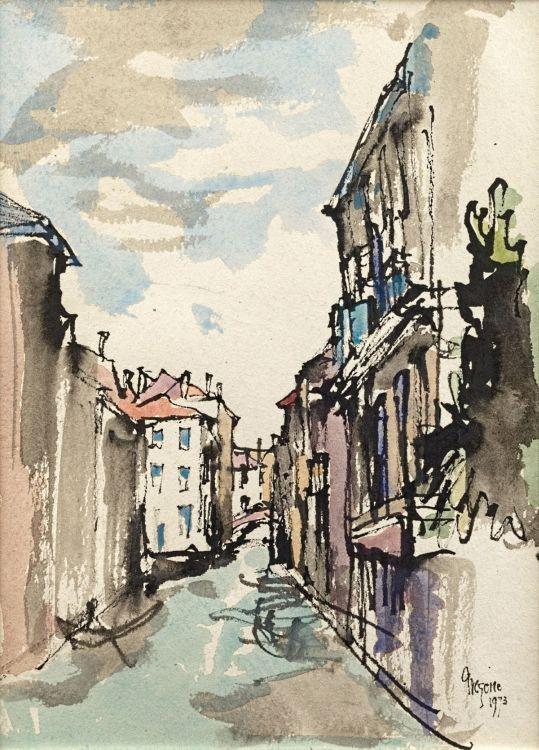 Gregoire Boonzaier; A Venetian Canal