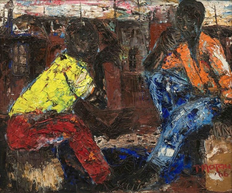Julian Motau; Two Men Relaxing