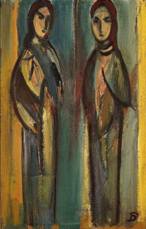 Pranas Domsaitis; Two Figures