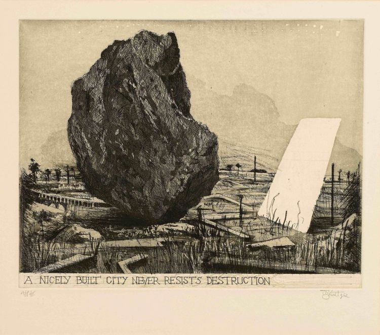 William Kentridge; A Nicely Built City Never Resists Destruction