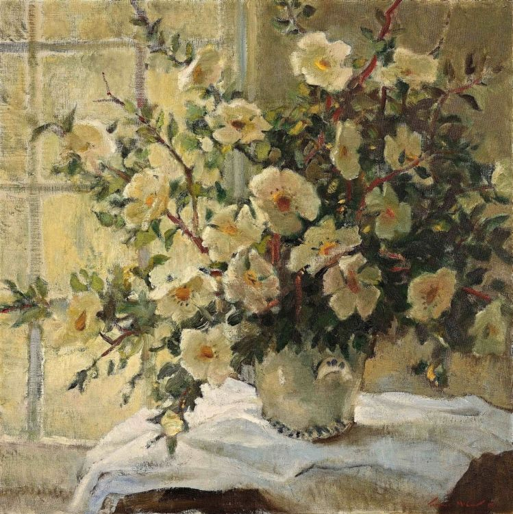 Terence McCaw; Still Life with Christmas Roses