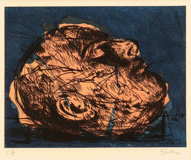 William Kentridge; Mayakovsky Head (Orange)