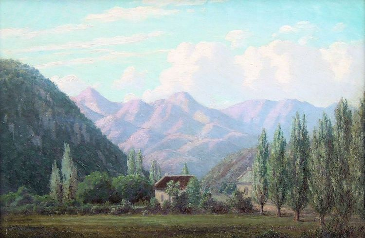 Jan Ernst Abraham Volschenk; A Farm in the Cango (Oudtshoorn)