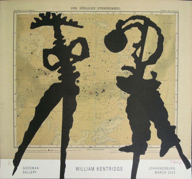 William Kentridge; William Kentridge Goodman Gallery Exhibition Poster, Johannesburg March 2003