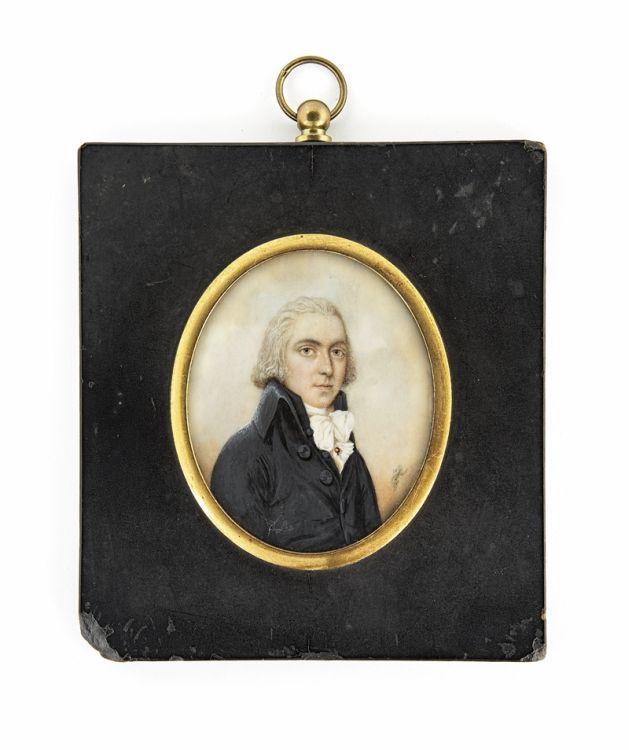 *A Gentleman, circa 1790, attributed to Nathaniel Plimer, British (1751-1822)