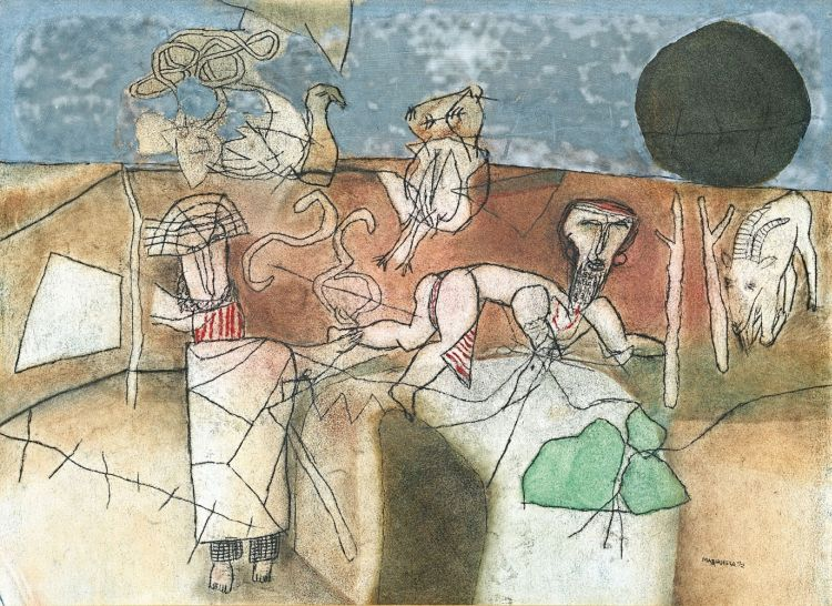 Louis Maqhubela; Composition with Goat