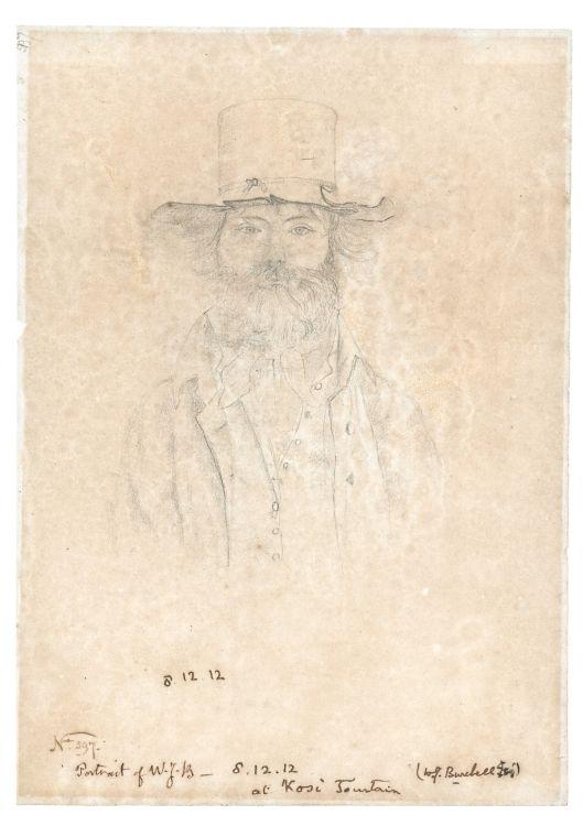 William Burchell; Self Portrait while on Trek at Kosi Fountain