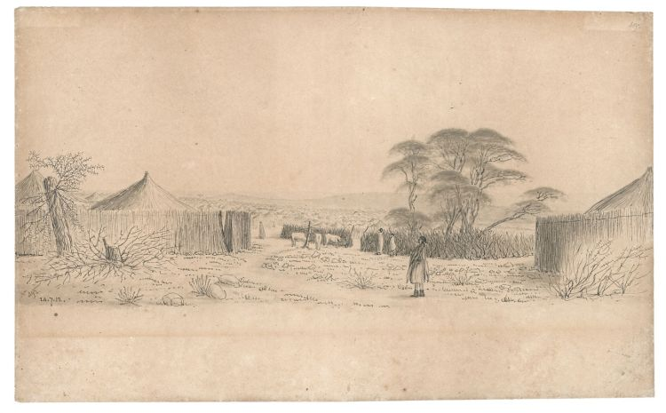 William Burchell; A View of the Town, Litakun