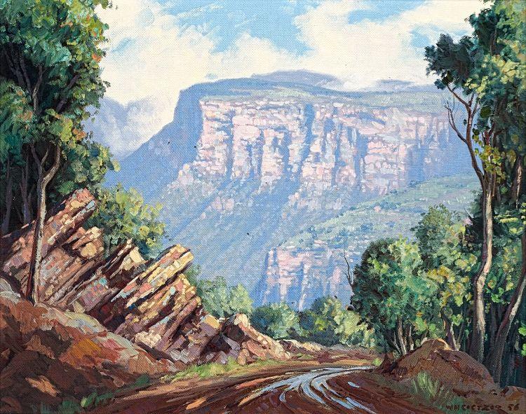 Willem Hermanus Coetzer; A Road in the Drakensberg