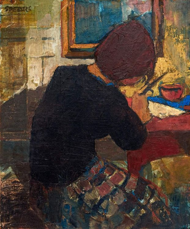 Frank Spears; Woman at a Desk