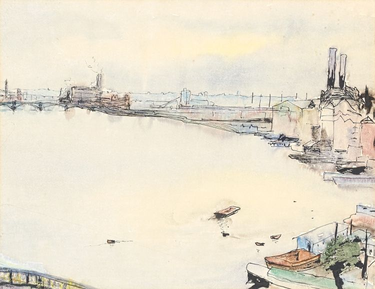 Maud Sumner; View of the Thames