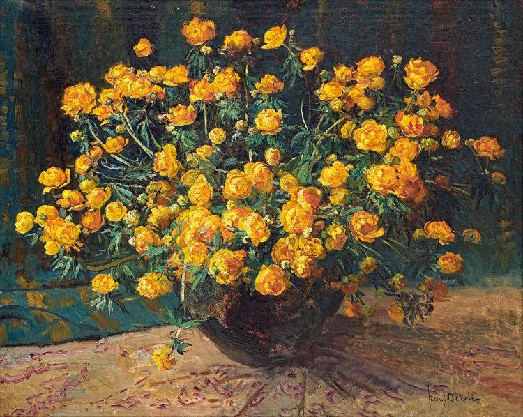Frans Oerder; Still Life with Ranunculus