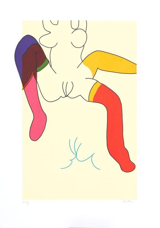 Walter Battiss; Girl Moving her Legs