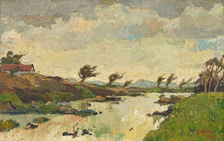 Gregoire Boonzaier; Along the Liesbeek River, Cape