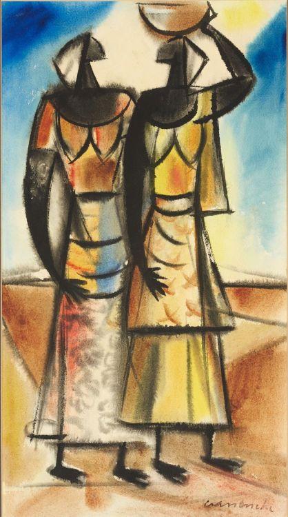 Maurice van Essche; Two Women