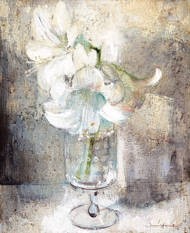 Irmin Henkel; St. Joseph Lilies in a Glass Vase