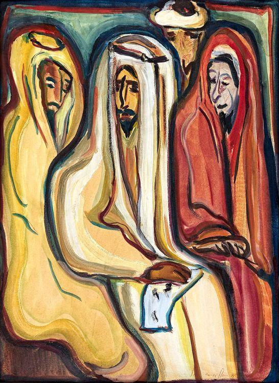 Irma Stern; Group of Arabs