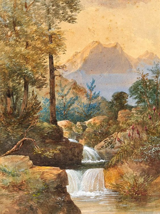 Thomas Bowler; Stream in a Wooded Landscape