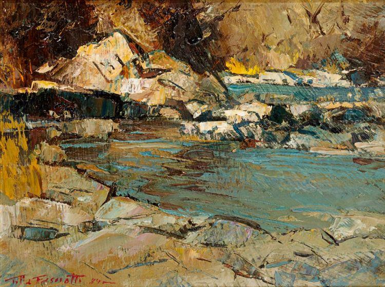 Titta Fasciotti; Landscape with Mountain Pool