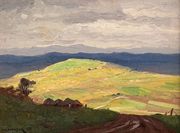 Willem Hermanus Coetzer; The Sunlit Hill, Newcastle