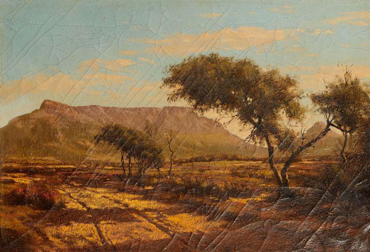 Tinus de Jongh; View of Table Mountain