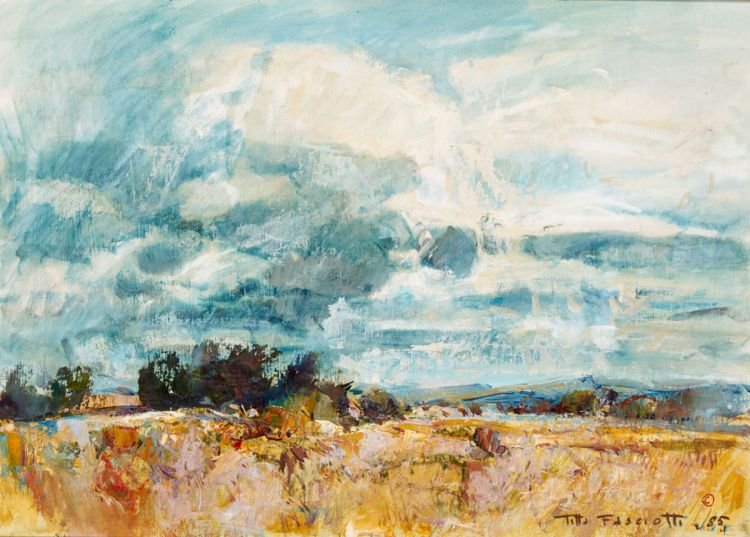 Titta Fasciotti; Landscape at Dusk