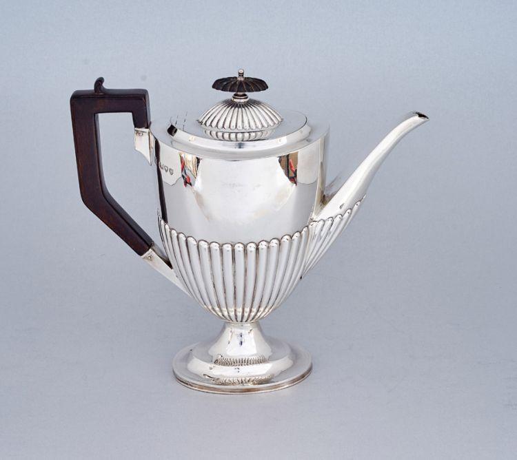 A Victorian silver coffee pot, Goldsmiths & Silversmiths Co (William Gibson & John Lawrence Langman), London, 1893
