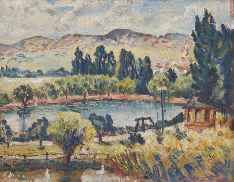 Reginald Turvey; Landscape with a Dam