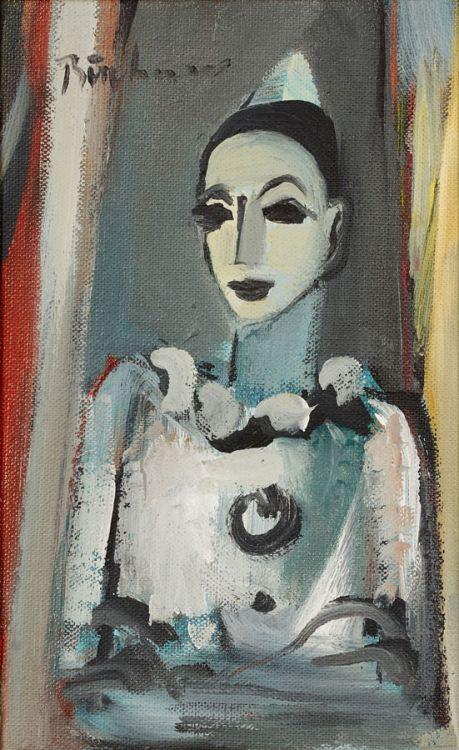 Carl Büchner; Harlequin in White