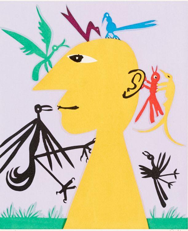 Walter Battiss; Man with Birds