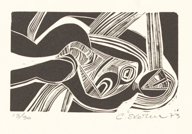 Cecil Skotnes; Untitled (Reclining Female Figure)