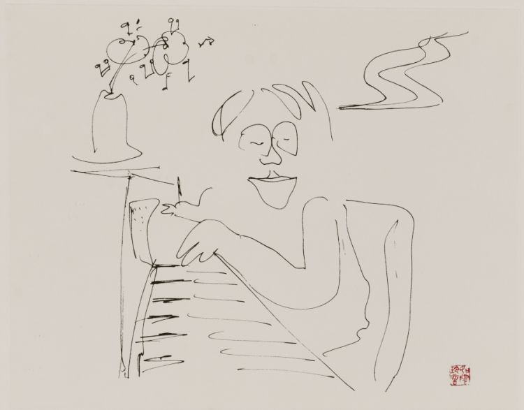 John Lennon; Four prints from Bag One Series including Hug, Dada Mama, Baby Grand and Bag One