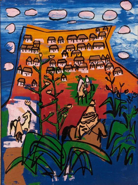 Walter Battiss; Basuto Village