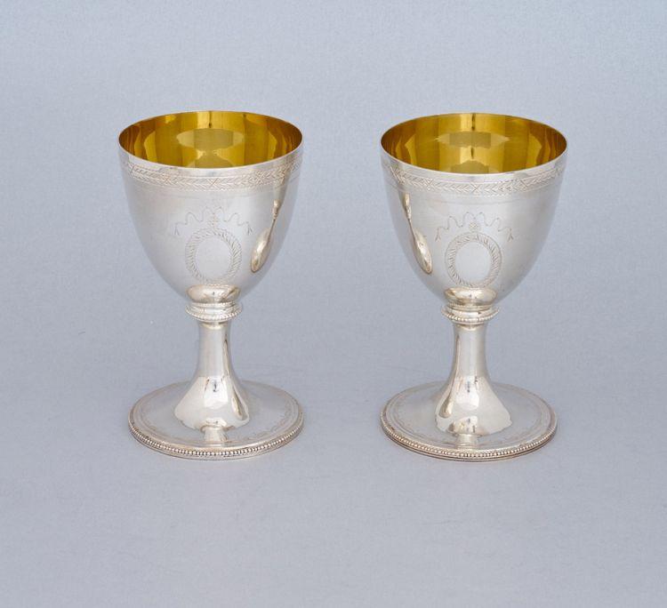 A pair of Elizabeth II silver goblets, C J Vander Ltd, Sheffield, 1995