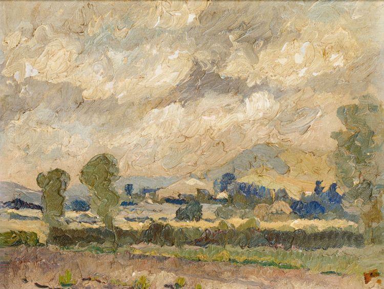 Aubrey Fielding; Sunset, Hertfordshire