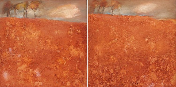 Gail Catlin; Landscape with Trees, a pair