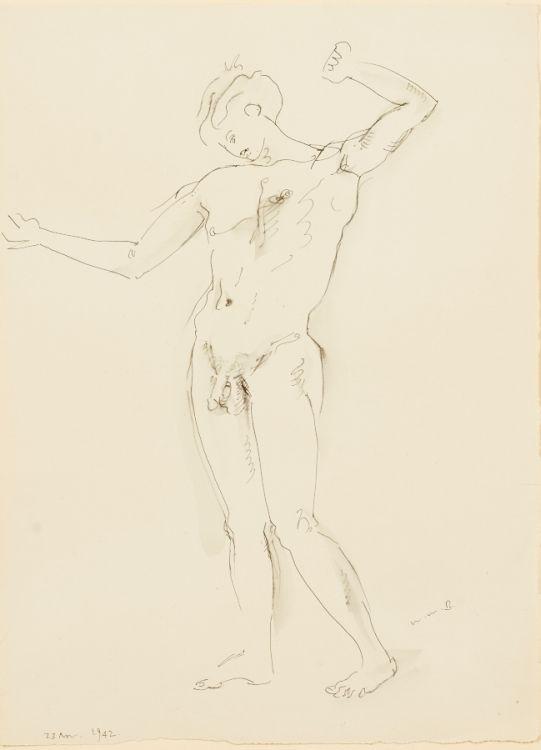 Walter Battiss; Male Nude