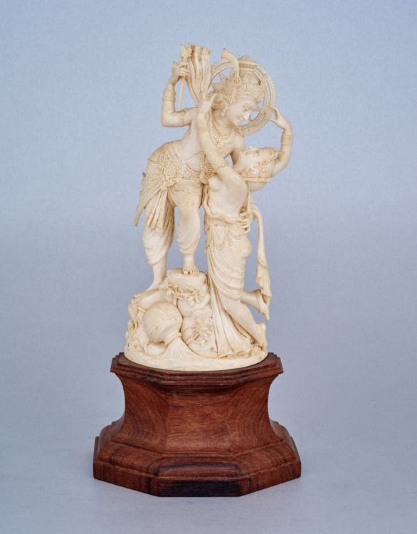 An Indian ivory figural group, first half 20th century