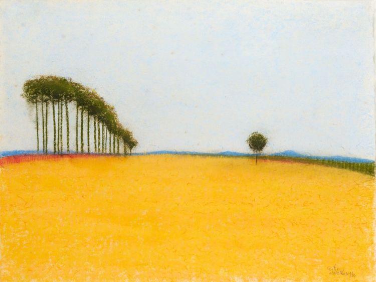 Pieter van der Westhuizen; Landscape with Trees