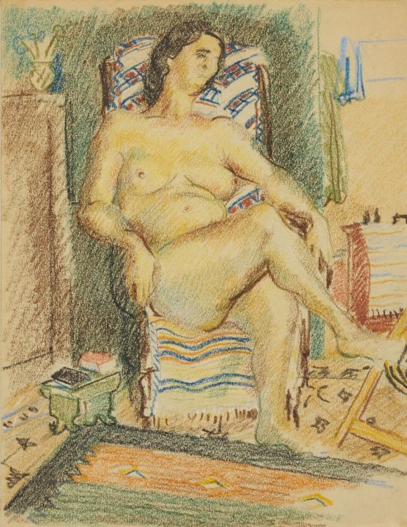Wolf Kibel; Nude Seated in a Chair