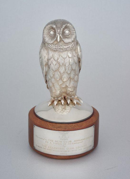 An Elizabeth II silver owl, William Comyns & Sons Ltd, London, 1965