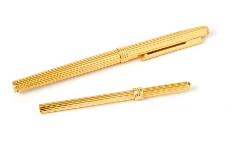 A gold-plated fountain pen, Christian Dior