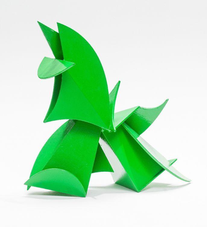 Edoardo Villa; Abstract Composition, Green