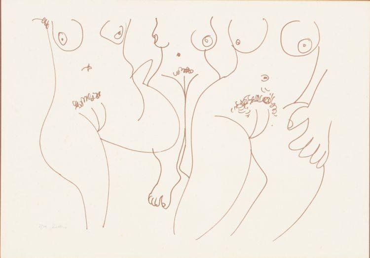 Walter Battiss; Three Nudes