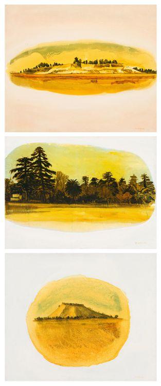 Hermann Niebuhr; Composite Landscape, triptych