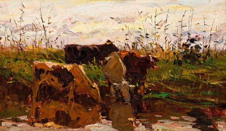 Adriaan Boshoff; Cattle Watering